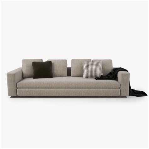 minotti sofa minotti leonard sofa 3d model max obj fbx cgtrader com