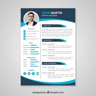 resume format freepik cv template vectors photos and psd files free