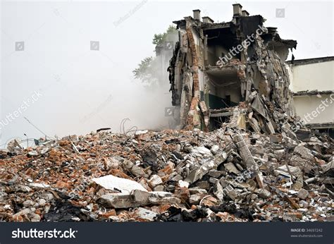 earthquake bomb destroyed building can be used as demolition earthquake