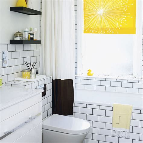 bright yellow bathroom bathroom colour schemes ideal home