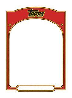 baseball trading card template the 25 best trading card template ideas on