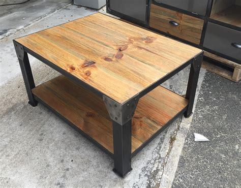 Table De Salon Industrielle 1237 by Table Basse Style Industriel