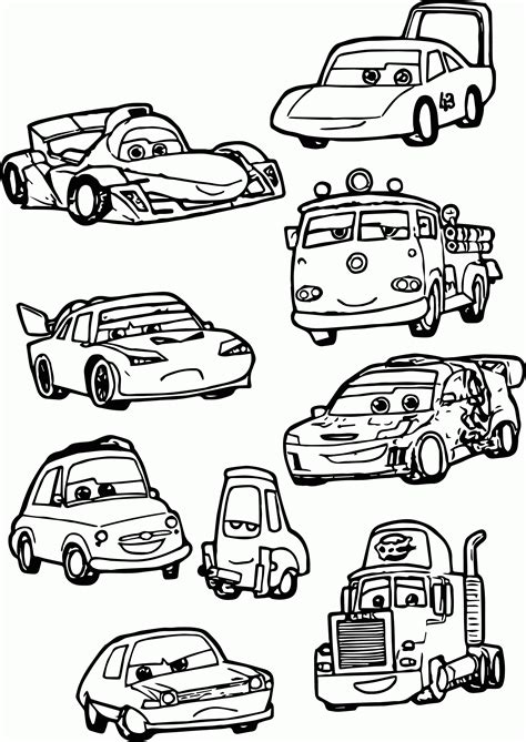 coloring pages cars characters mcqueen cars 2 coloring pages coloring home