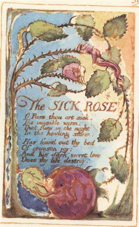 theme sick rose william blake william blake the sick rose yalanpara