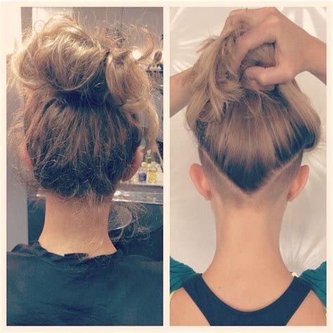 short hairs back of neck poney tail 30 best undercut images on pinterest nape undercut