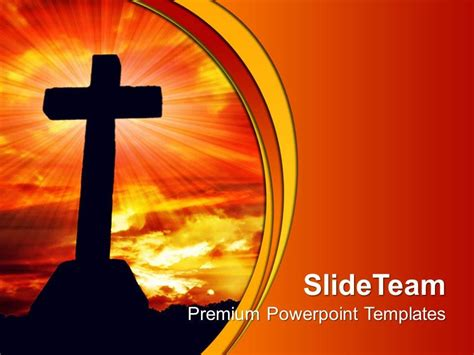 powerpoint themes jesus jesus christ god powerpoint templates cross religion