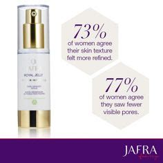 Jafra Royal Jelly Global Longevity Eye Crme exceptional results when used with the royal jelly global longevity balm for just one week