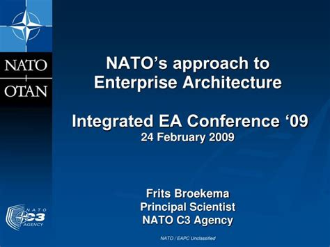 ppt templates for conference presentation ppt nato s approach to enterprise architecture