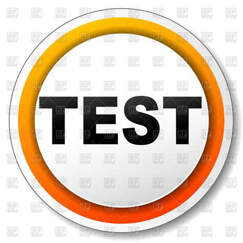 free test orange sign with word test vector illustration of
