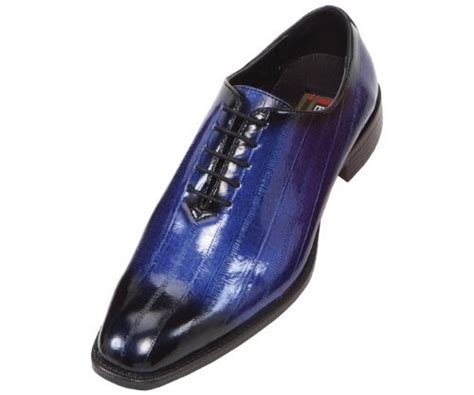 best dress shoe value mens best bolano mens faux eel print oxford dress shoe in royal blue and black style