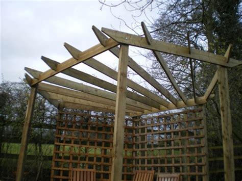 triangle pergola designs daily wood ideas pergola plans free