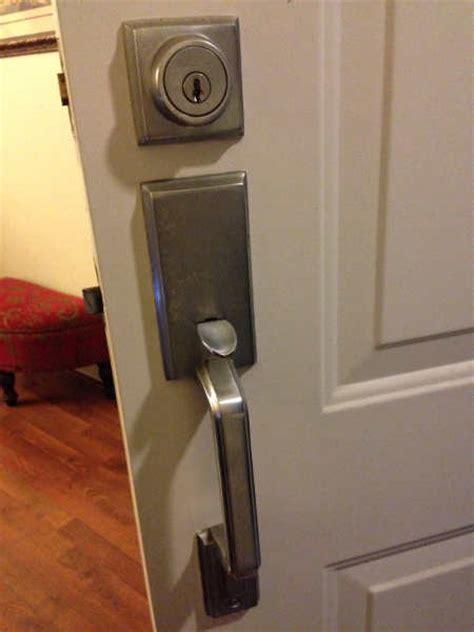 door handle out of door knob lock set