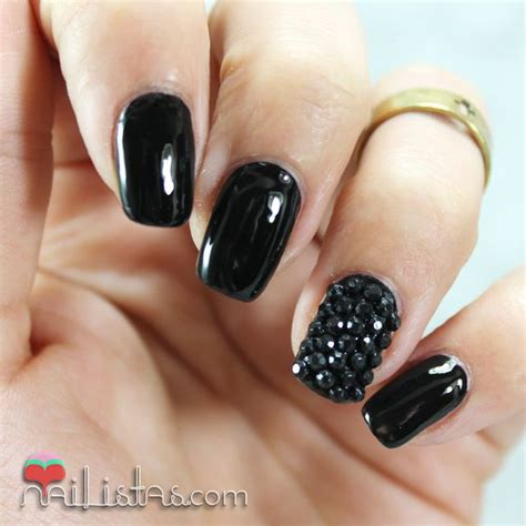 imagenes locas rockeras black leather nail art u 241 as decoradas en negro charol