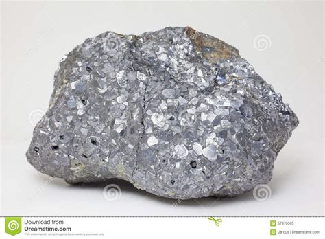 Mineral L by Mineral Galenite Stock Image Image Of Grey Silver