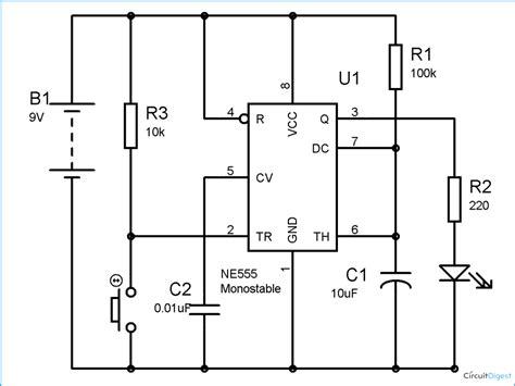 555 delay timer circuit diagram 555 timer monostable calculator