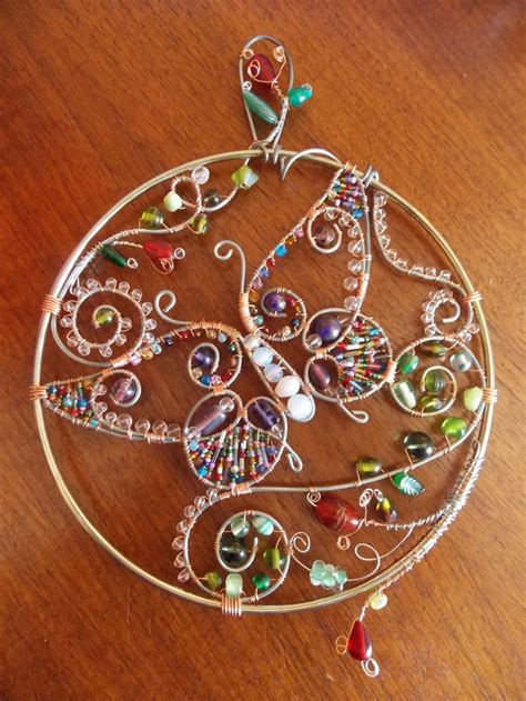 glass bead suncatchers crafts 25 best ideas about wire butterfly jewelry on