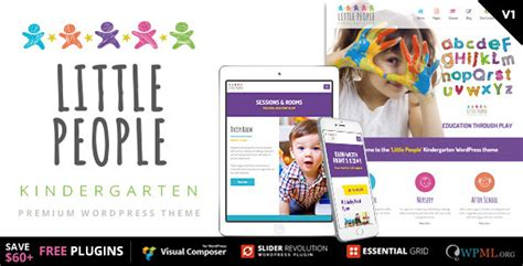 cartoon themes wordpress little people kindergarten wordpress theme for prescool
