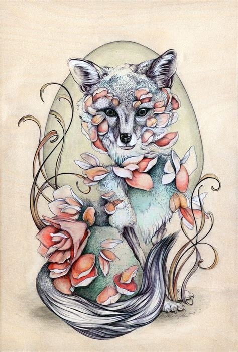 beautiful nature inspired drawings by christina mrozik