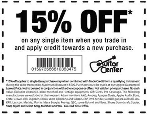 Where Can I Get A Guitar Center Gift Card - guitar center coupons printable coupons in store coupon codes