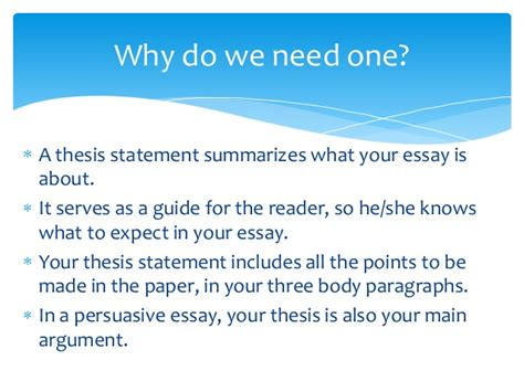 Why Should I Do A Thesis by What Is A Thesis Statement