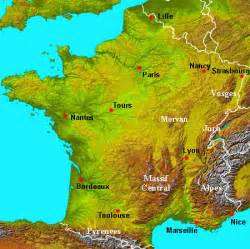 Physical Map Of France by Pics Photos Physical Map Of France France Physical Map