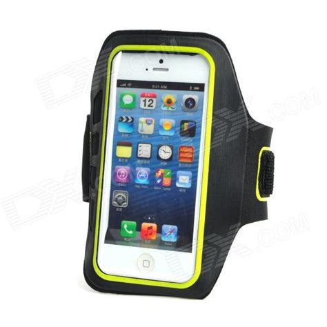 Sports Armband For Iphone Smartphone Ukuran 5 5 Inch ia 5 protective plastic flannel outdoor sport armband for iphone 5 4g more black