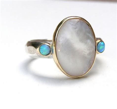 Handmade Silver And Gold Rings - engagement ring pearl ring cocktail handmade statement