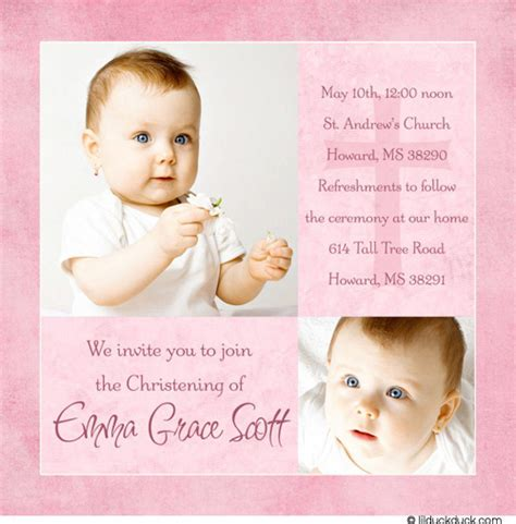 Baptism Invitations by Invitation Text Christening Images Invitation Sle And