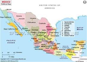 mexico map major cities