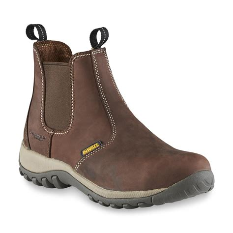 slip on work boots dewalt s level steel toe slip on work boot d84334 brown