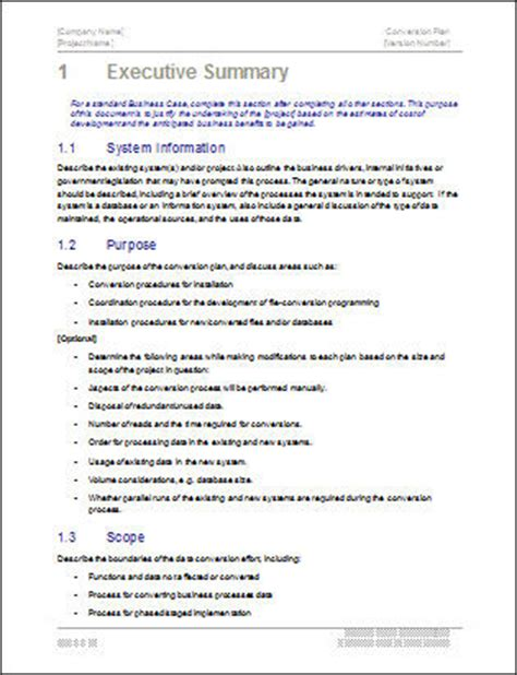 conversion plan template conversion plan template software software templates