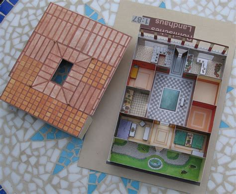 printable roman house lutz s web site paper model roman country house