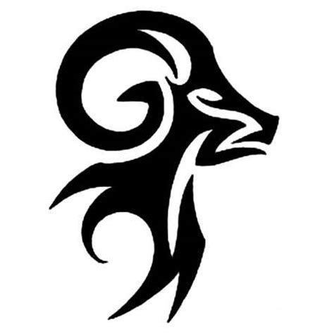 10 Awesome Aries Tribal Tattoos Only Tribal Aries Symbol Designs