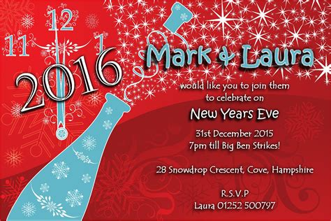 new years invite 10 personalised new years invitations no3
