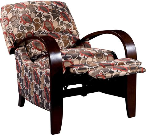 recliner accent chairs aaron reclining fabric accent chair copper the brick