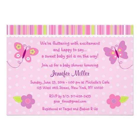 Butterfly Baby Shower Invitations Printable Free by Baby Butterfly Baby Shower Invitations Zazzle