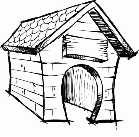 coloring page dog house dog house coloring page coloring home