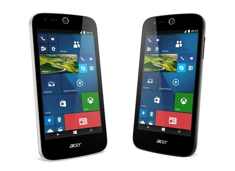 mobile phone acer acer announces two new budget windows 10 mobile phones at