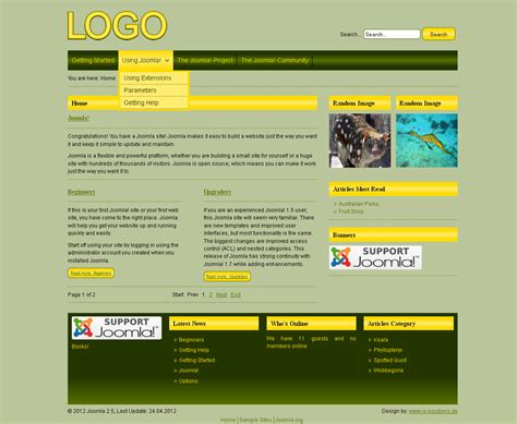 best joomla templates best yellow joomla templates joomla templates 100