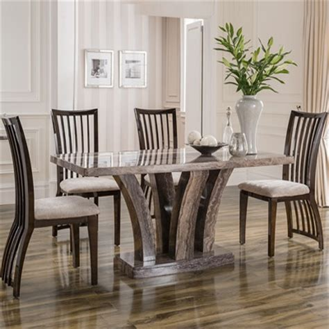 Marble Dining Table And 6 Chairs Amari Marble 180cm Dining Table With 6 Chairs