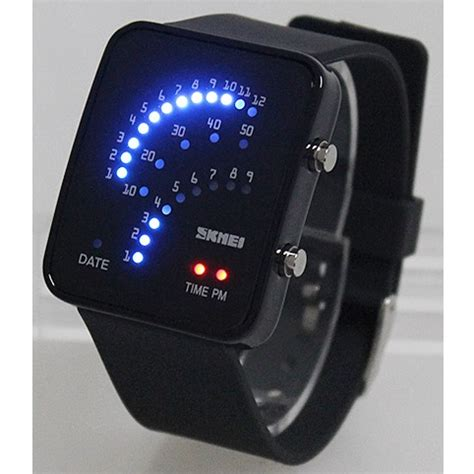 Jam Tangan Led Skmei Sport Trendy Led Display Water Resistant skmei jam tangan led trendi 0890f black jakartanotebook