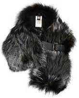 Fendi Fever Real Fox Fur Green fox fur wrap shopstyle uk