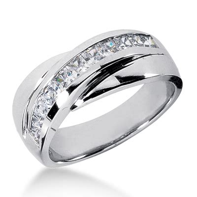platinum mens diamond wedding band ct