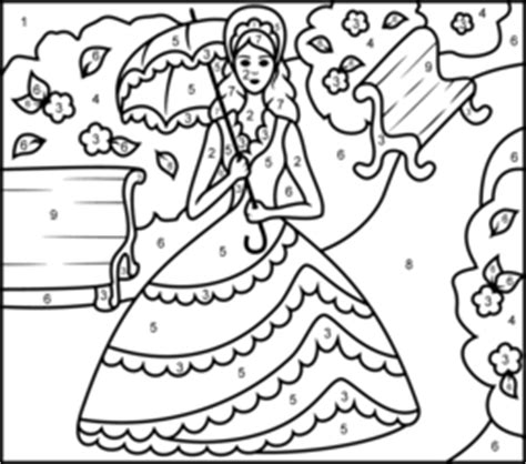 princess coloring pages by numbers princess in garden coloring page printables apps for kids