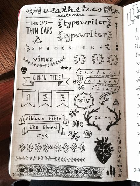 doodle notes draw bullet journal bullet journal and template