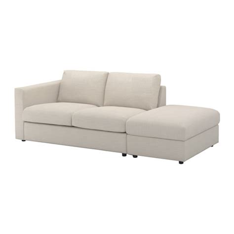 How To Open Ikea Sofa Bed Vimle 3 Seat Sofa With Open End Gunnared Beige Ikea