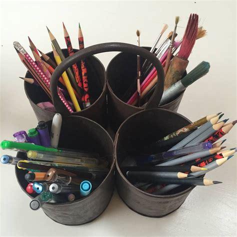 Desk Pot by Brass Thali Pen Pot And Desk Tidy By Lovestruck