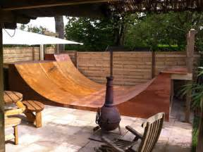 Build A Halfpipe In Backyard Skateboard And Scooter Ramps Half Pipes Quater Pipes