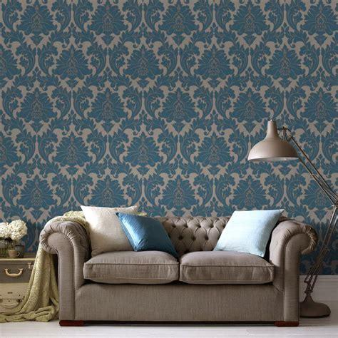 removable wallpaper uk graham brown majestic teal removable wallpaper 30 435