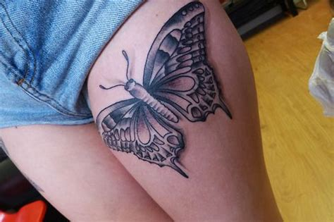 butterfly thigh tattoos thigh butterfly designs http